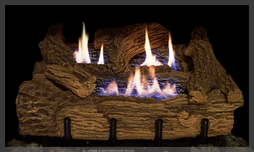 EVERWARM Palmetto Oak Gas Logs