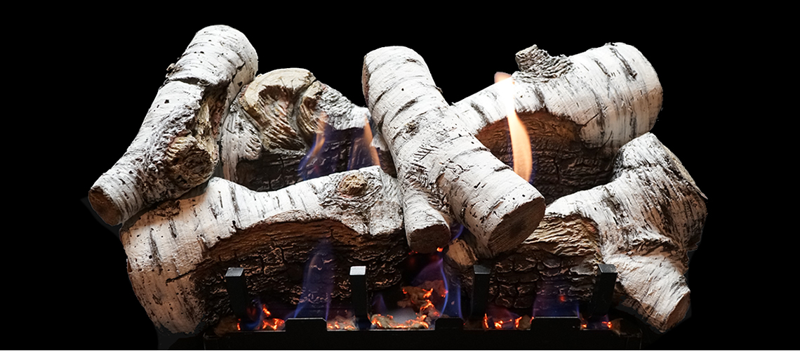 American Hearth Birch Log Set